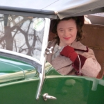 Sarah Gordy on the set of Upstairs Downstairs
