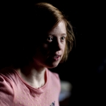 Sarah Gordy in rehearsals for Crocodiles