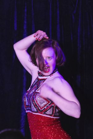 Sarah Gordy dancing at An Audience with...