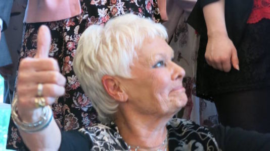 Dame Judi Dench thumbs up
