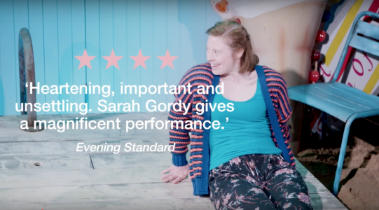 video clips of Jellyfish at The Bush Theatre with reviews to promote play at the National Theatre in July 2019