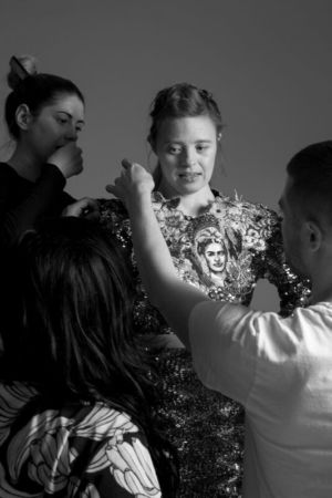 Behind the scenes at Zuzia Zawada photoshoot