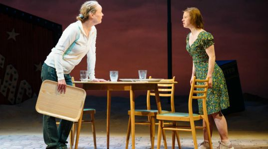 Penny Layden and Sarah Gordy in Jellyfish at NT