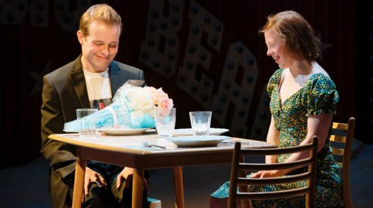 Nicky Priest and Sarah Gordy in Jellyfish at The National Theatre