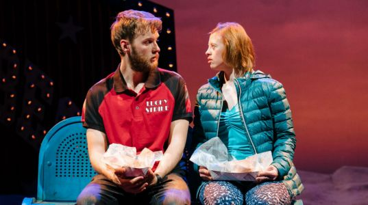 Sion Daniel Young and Sarah Gordy in Jellyfish at NT