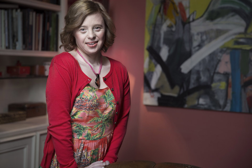 Sarah Gordy portrait, visiting Milan
