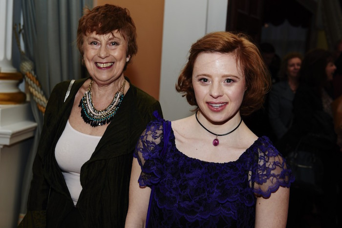 Jane and Sarah Gordy at The City of London Fashion Show