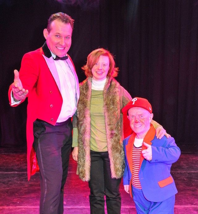 Sarah Gordy and performers at Circus Starr