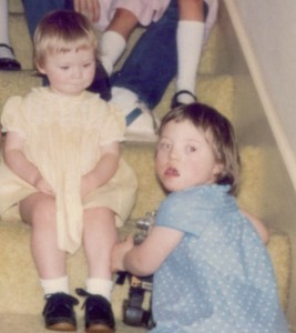 Sarah and Catherine as toddlers