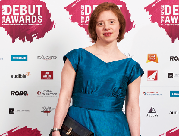 Sarah Gordy on red carpet at awards ceremony